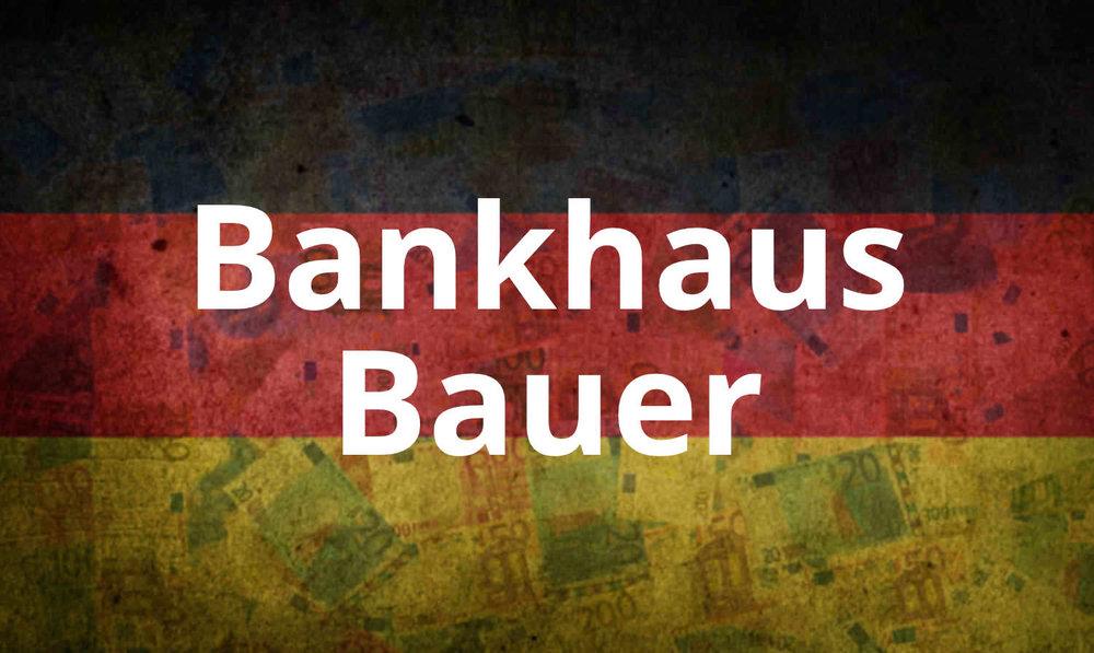 - Das Bankhaus Bauer – Ihre Privatbank.Eine der ersten Adressen, nicht nur in Geldangelegenheiten.