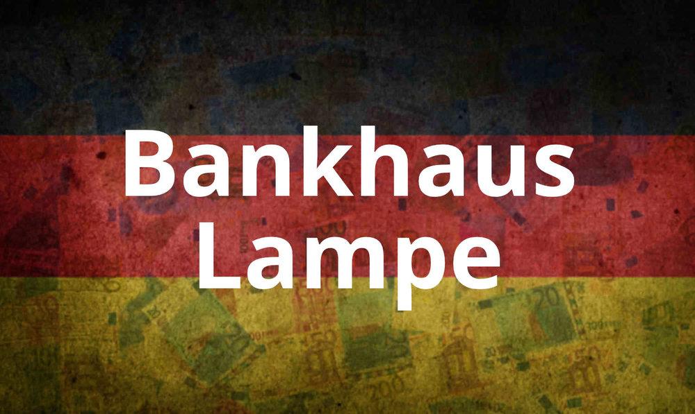- Das Bankhaus Lampe konzentriert sich auf die umfassende Betreuung vermögender Privatkunden, Firmenkunden und institutioneller Kunden.