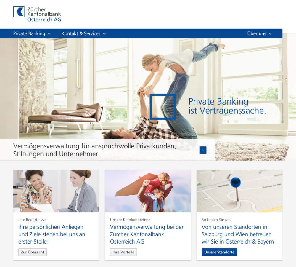 Website-Zürcher Kantonalbank