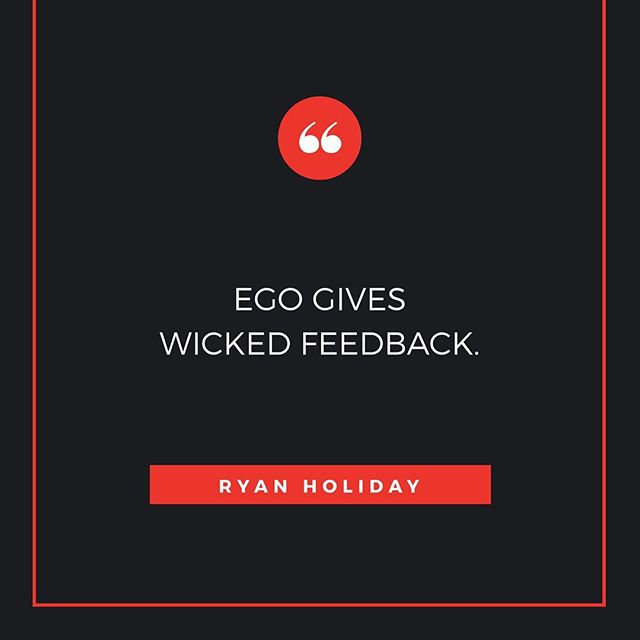 Good words from @ryanholiday.