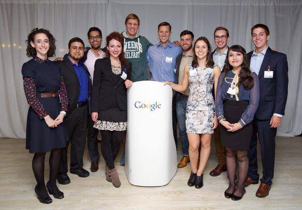 The 2015-2016 George J Mitchell Scholars Welcome Reception at Google EU Headquarters, Dublin.