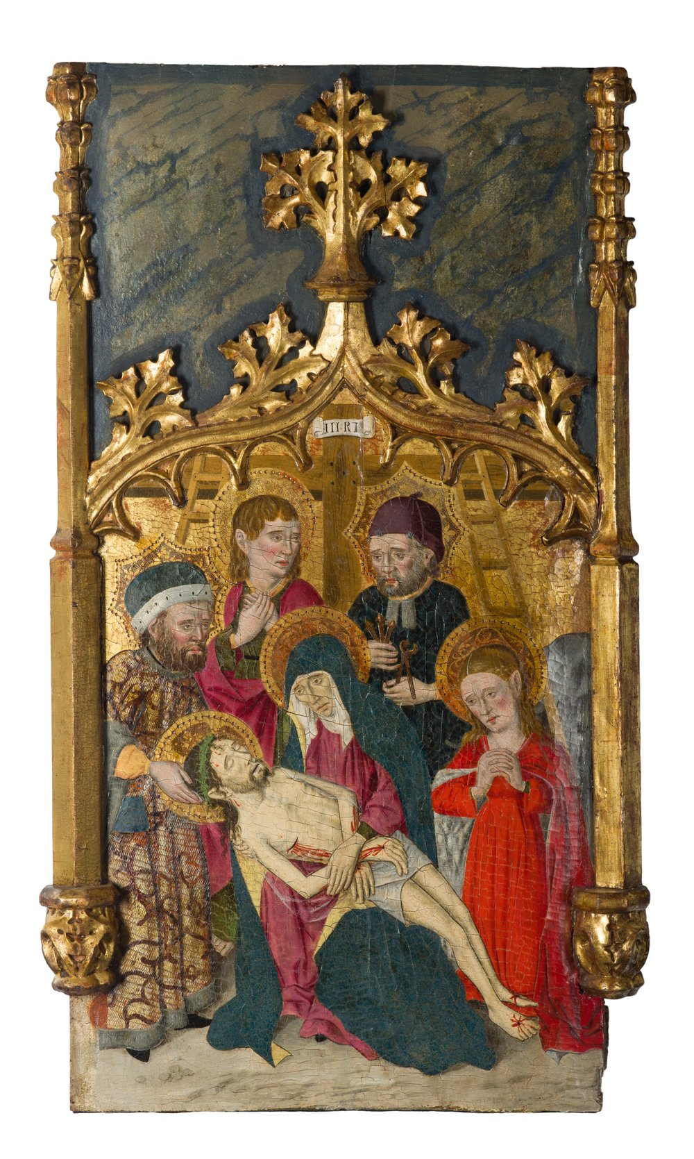 261_Joan Figuera_The retable of The Virgin. Saint Peter Martyr. and Saint Mark_Egg tempera on panel_261 x 249 cm. 102 ¾ x 98 in._small-2.jpg