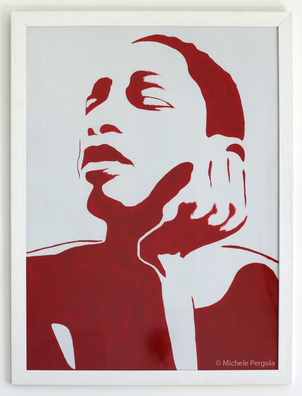 Ricky Vaughn, 2014 (Acrylic on cardboard, 24x31 inches)