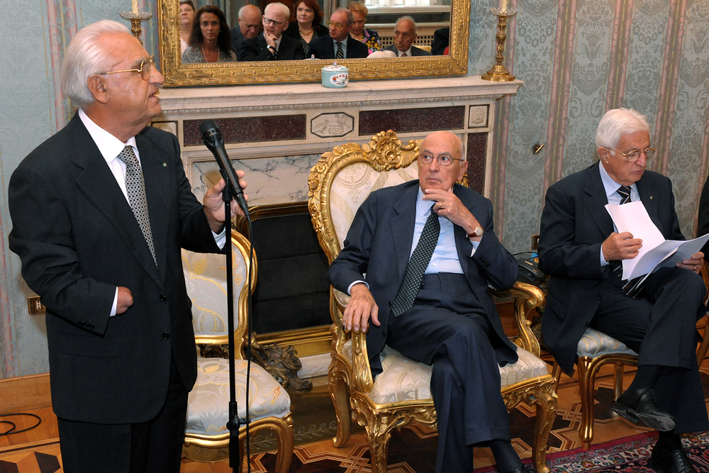 Giorgio Napolitano (center)