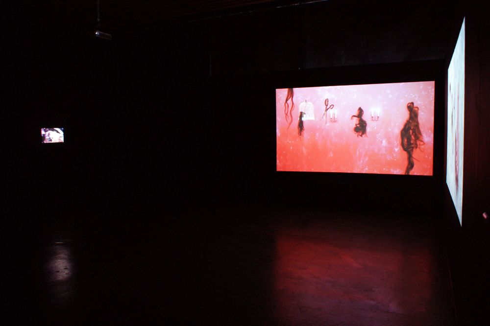 3 films (projected) installation, WImbledon 2012 MA Show