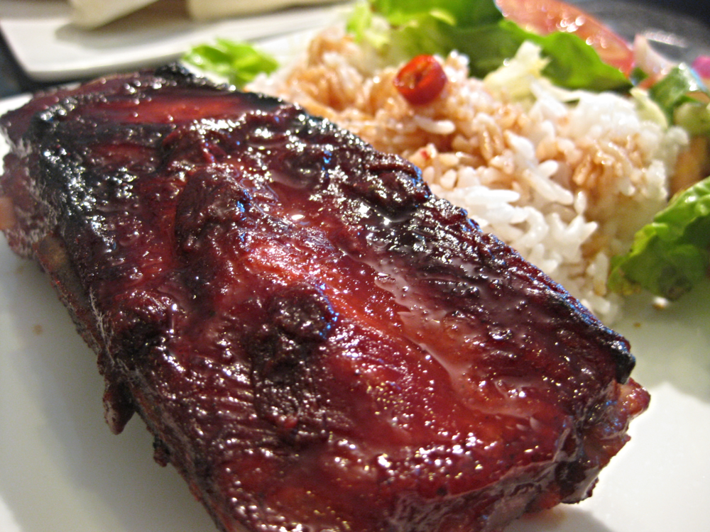 Chinese BBQ rib with rice. It's my monthly dinner dish.