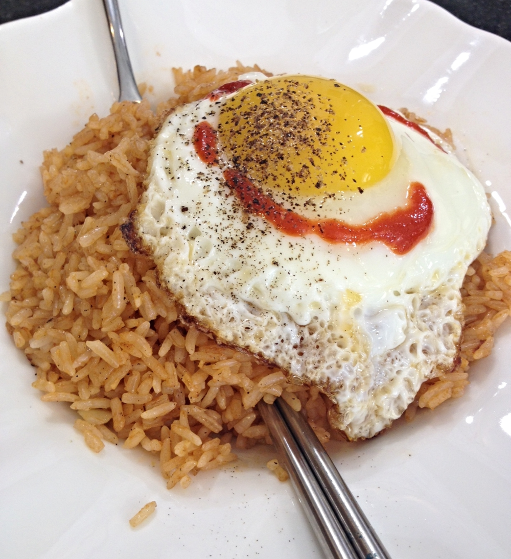 Everything tastes better with a fried egg on top!