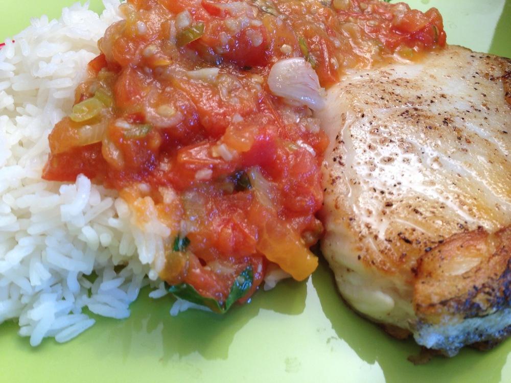 seabass dinner
