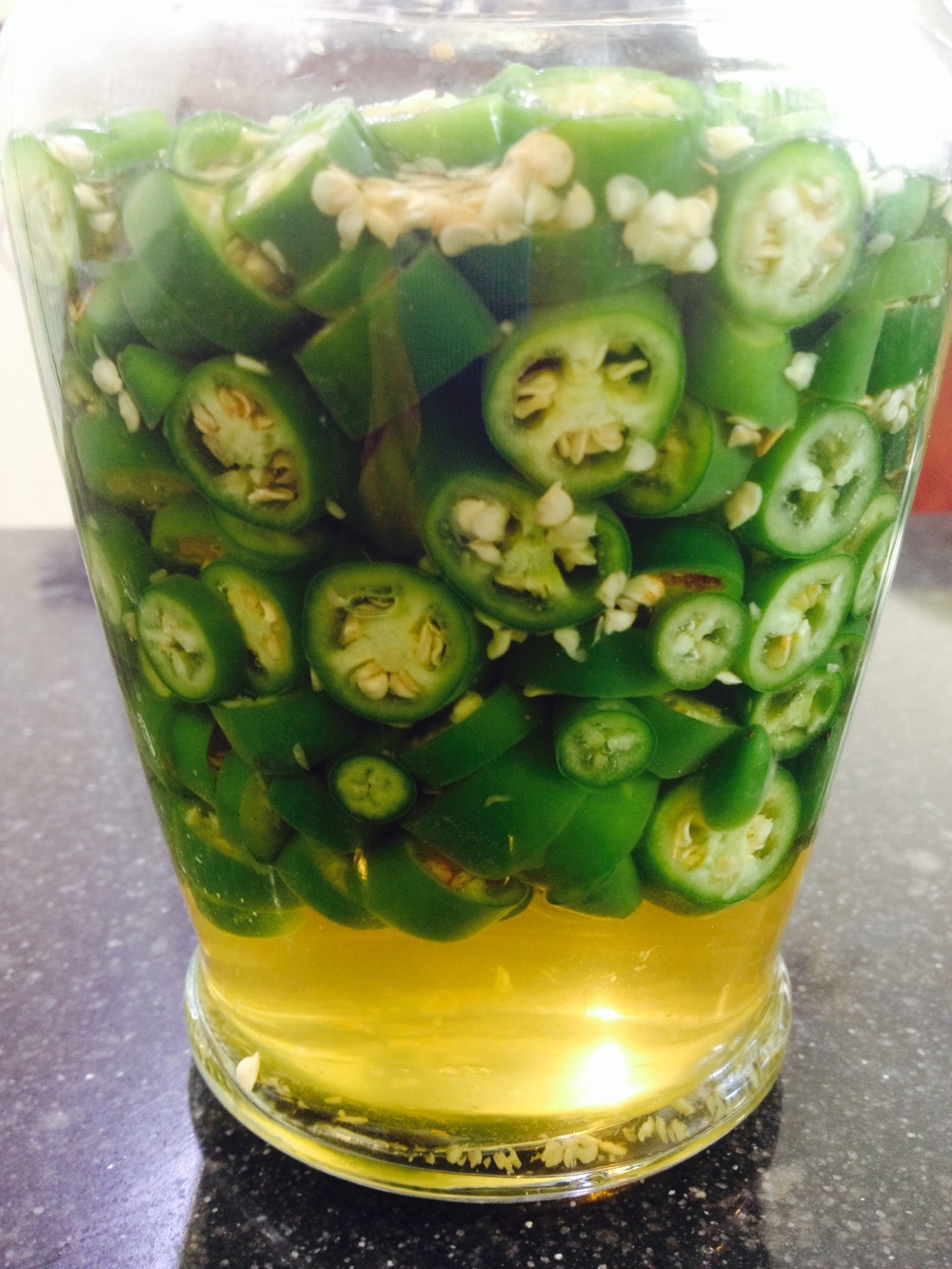 pickled spicy green peppers