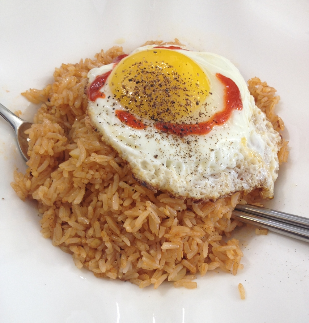 Simple Tomato Sauce Fried Rice