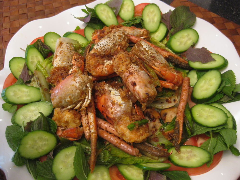 Garlic Prawns Salad