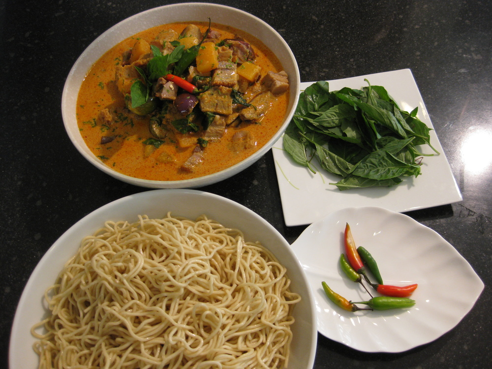 Red Curry and Noodles