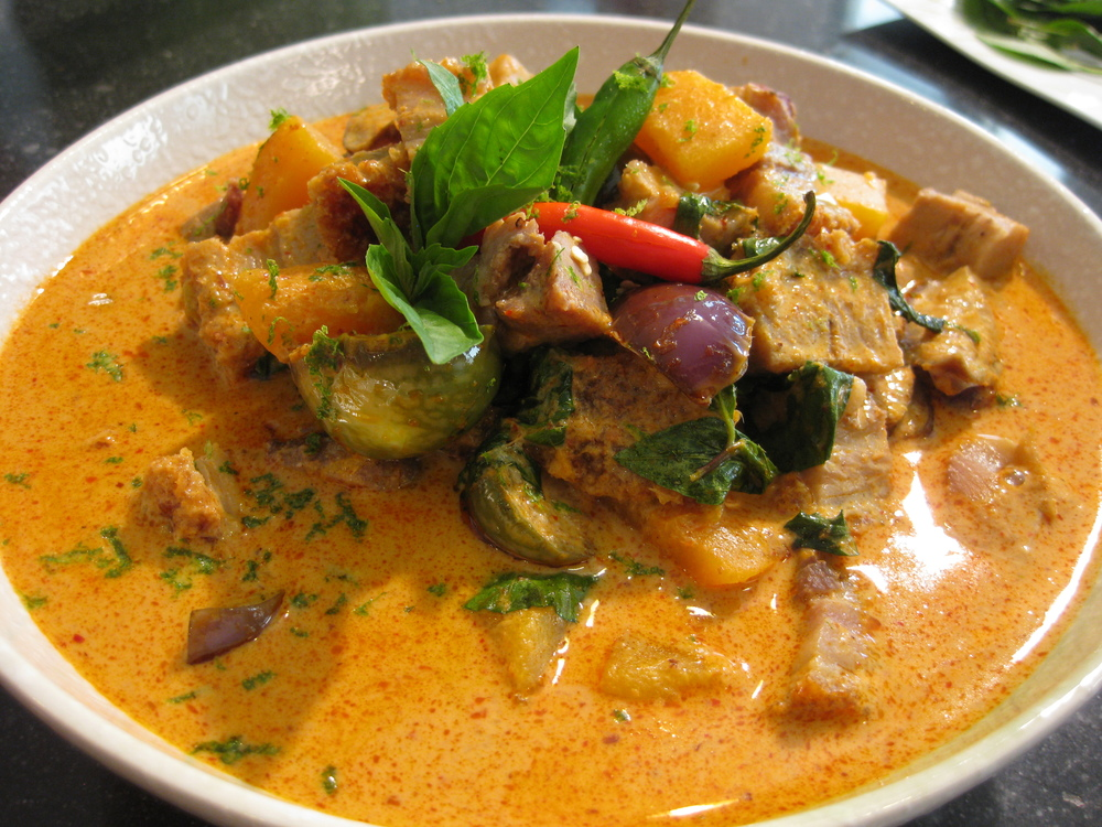 red curry with roasted pork