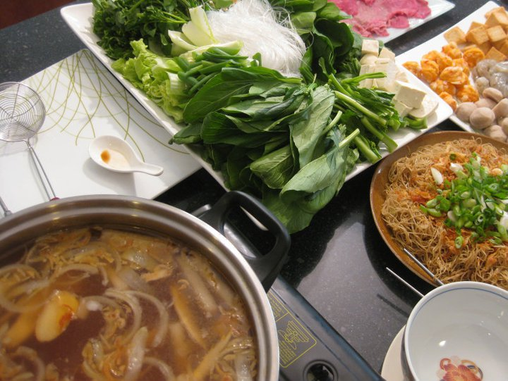 Winter Hot Pot with Beef and Seafood