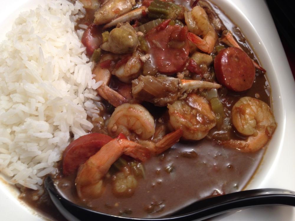 Seafood Gumbo and Jasmine Rice