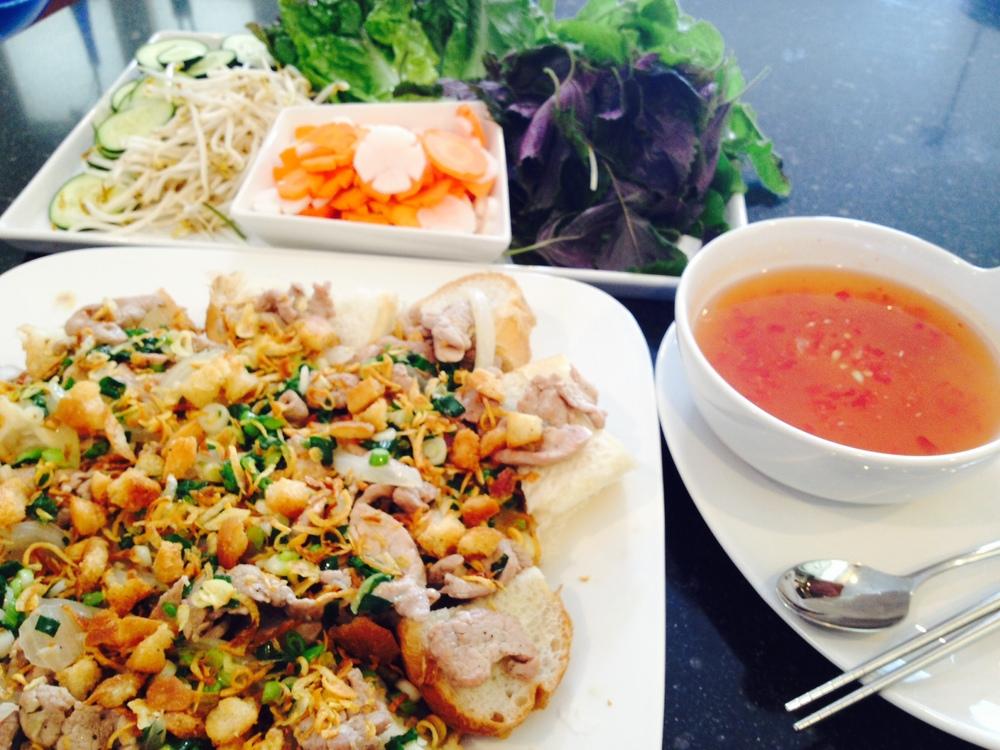 Saigon-Style Steamed Bread Wrap (Banh Mi Hap Thit Xao)