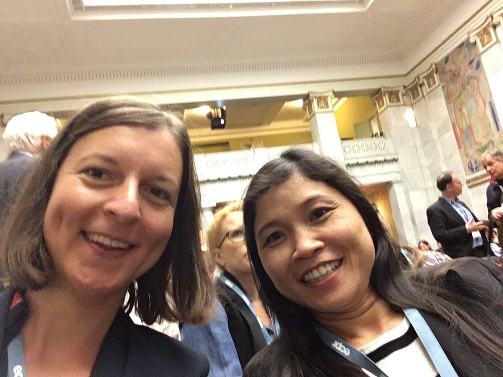 Janja Komljenovic and Que Anh Dang at the conference