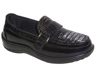 Chelsea Croc by OrthoFeet Black Sizes: 5-12 (N, M, W, XW)