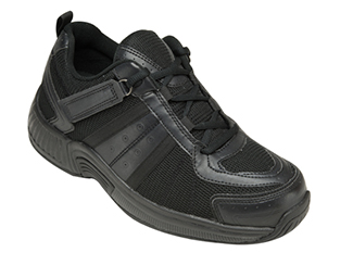 Monterey Bay Shoe by OrthoFeet Black Sizes: 7-15 (N, M, W, XW, XXW)