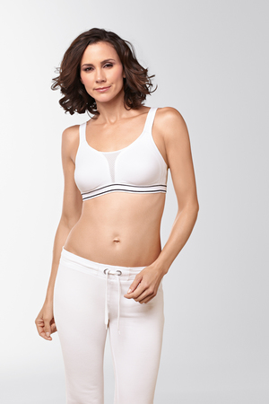 Performance Sports Bra : White