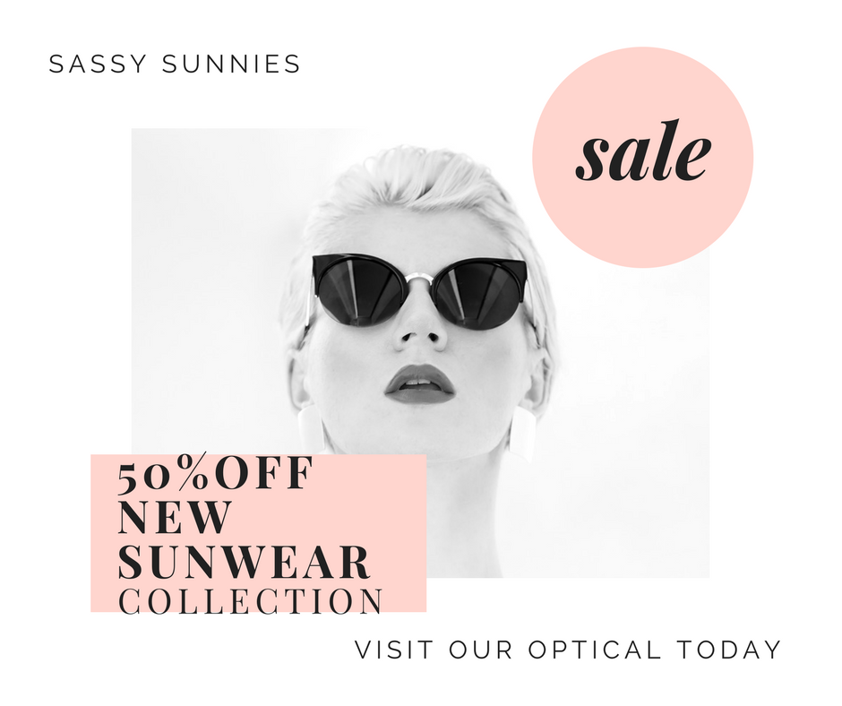 Brand new collection of sunnier,now at Omni Eye Specialists, just in time for Summer.  To introduce the line to our patients, we are offering 50% off the new styles.  Stop by and see our promotions and expert Optician Cindy.