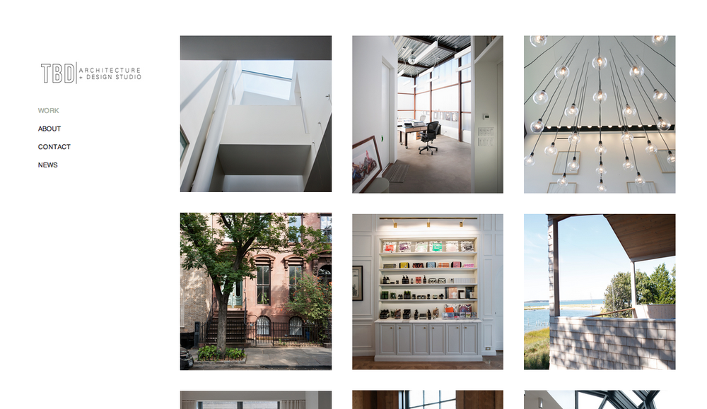 TBD Design & Architecture Website