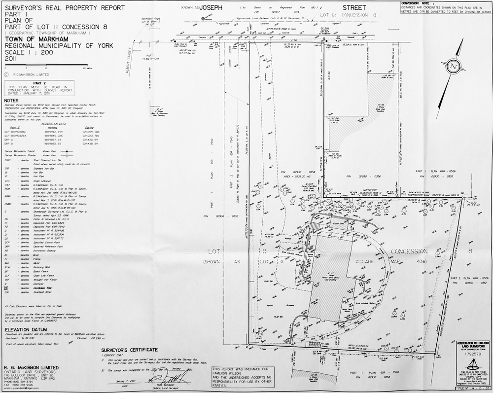 Survey Of Property - Original Dwelling