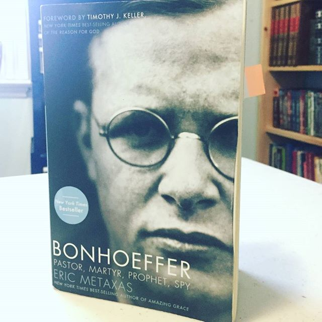 "Today we at THA are reading ""Bonhoeffer"" @ericmetaxas  #newyorktimesbestseller #bookstagram #bonhoeffer #timothykeller"