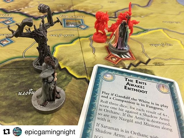 The ents have to be some of my favourite parts of the lord of the rings. #Repost @epicgamingnight with @repostapp ・・・ Awake the ents!! War of the Ring! #BoardGames