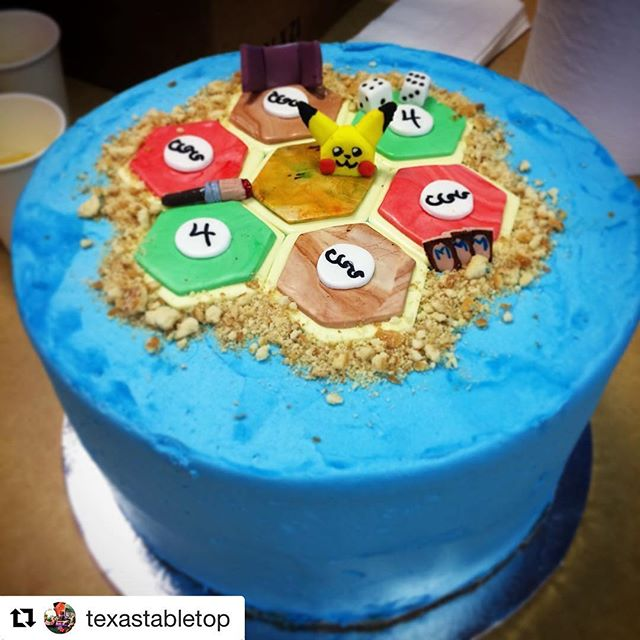 Can I get a cake like this for my birthday? #Repost @texastabletop with @repostapp ・・・ Happy Tabletop Day! To celebrate the occasion, our friendly local game store provided this fun and tasty cake from @videogamebaker for all to enjoy! #tabletopday . . . #internationaltabletopday #tabletop #tabletopday2017 #catan #cake #boardgames #boardgame #eurogamer #pokemon #pikachu #games #bakery #chocolate #chocolatecake #icing #bgg #gameday #settlersofcatan