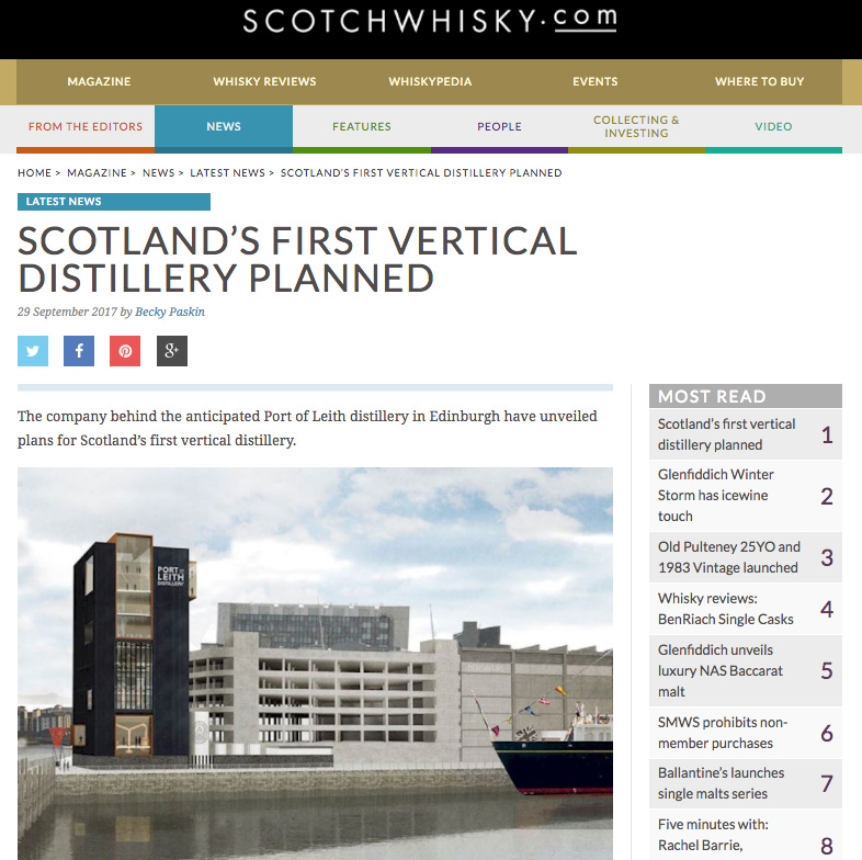 SCOTCHWHISKY.COM - 29/09/17 - NEWS