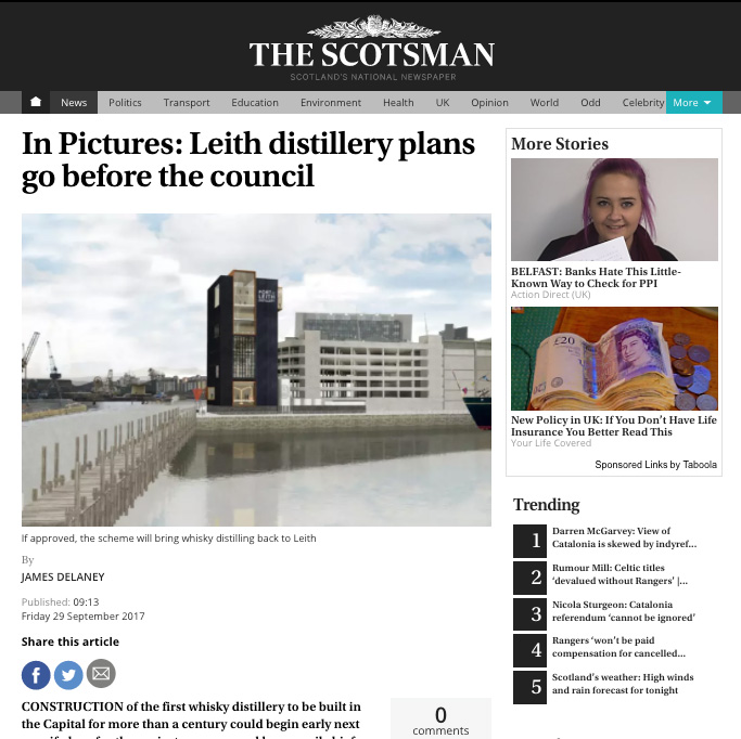 THE SCOTSMAN - 29/09/17 - NEWS
