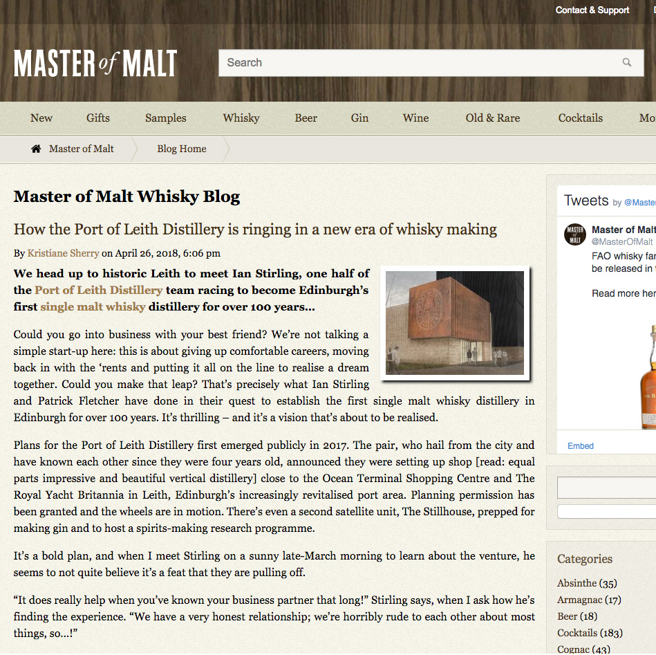 MASTER OF MALT - 26/04/18 - INTERVIEW