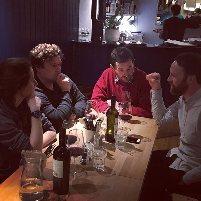 The Staff Night Out continues @eastpizzas with an intense discussion about carbonation. It's so much fun. Carbonation. Amazing pizza.  #carbonation #distillery #leith #ginlover #scottishgin #leithdistillery #tonic #gin #edinburgh