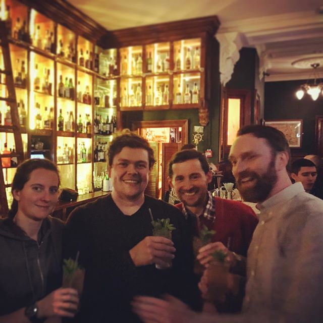 Ending this historic Staff Night Out at the Leith Institution that is @nauticusbar for debriefing and cocktails.  #leith #edinburgh #distillery #ginlover #gin #whisky #scotch