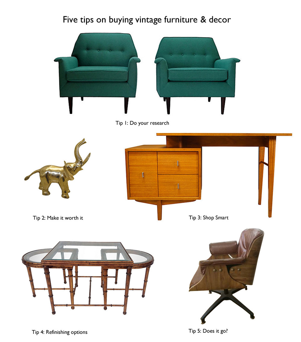 5 tips on buying vintage furniture & decor. color me quirky