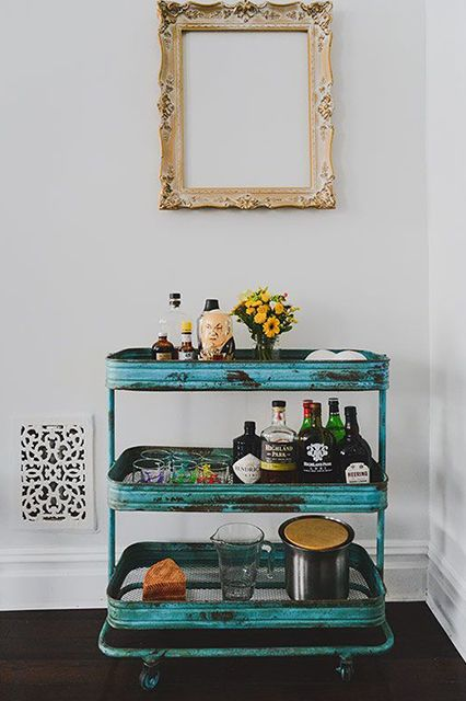 color. me. quirky. trending // bar carts