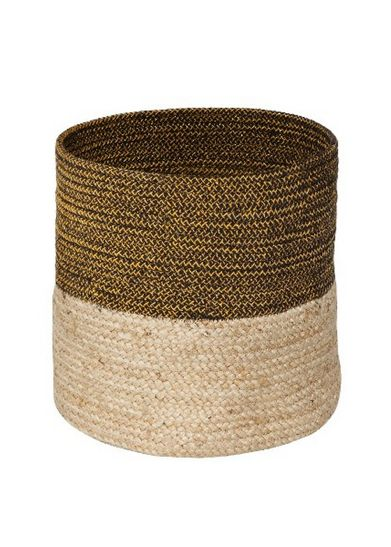 Nate Berkus //  Jute and Lurex Storage Bin