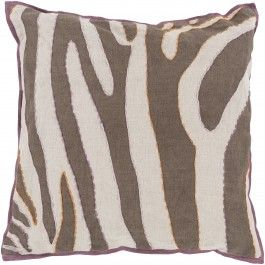 Lulu & Georgia //  Rain Forest Pillow, Brown