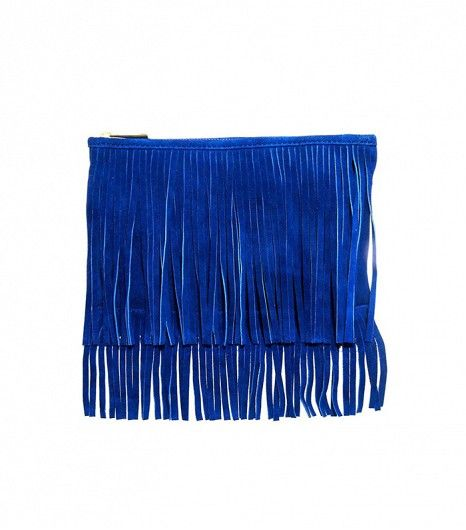 ASOS // Suede Fringe Clutch Bag
