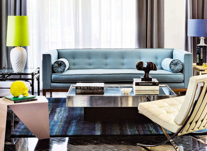 masculine Barcelona living room.