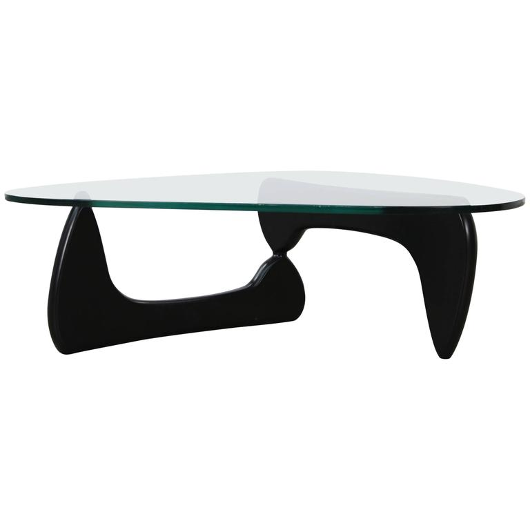 Vintage Noguchi Design Wood & Glass Coffee Table
