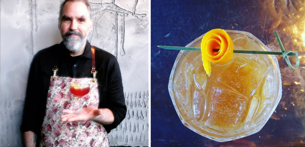 """Left: Photo by Jennilee Murray, drink is """"The Mexican Gentleman"""". Right: Photo by Esmeralda Smith Romero, drink is a gin fizz."""