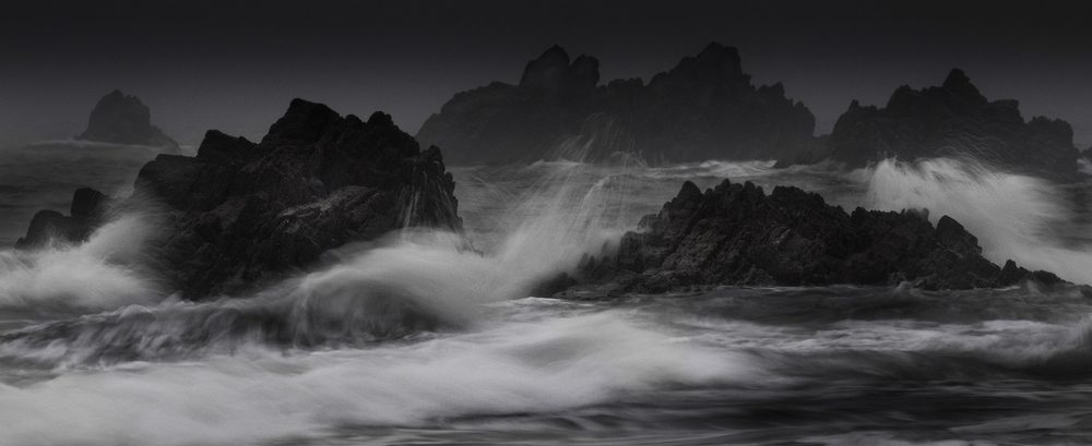 Storm waters at Marloes Sands.