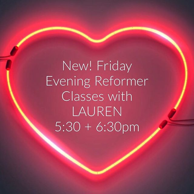 Couple spaces left in this Friday's 5:30pm class with Lauren!  #brooklynheightspilates
