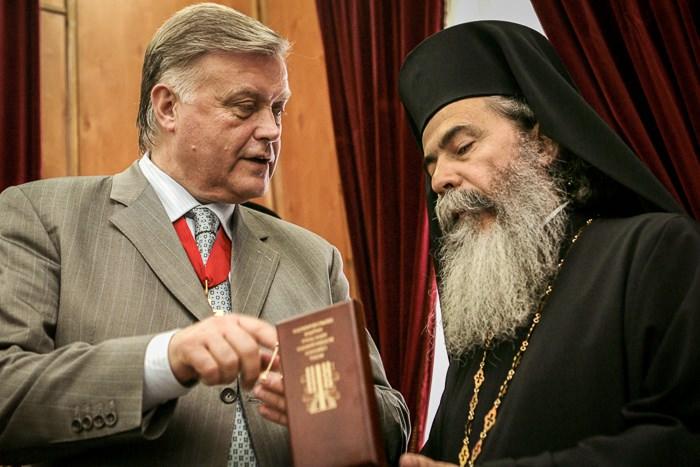 Якунин В.И. и Патриарх Иерусалимский Феофил III.