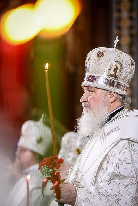 Патриарх Московский и всея Руси Патриарх Кирилл. Благодатный Огонь.