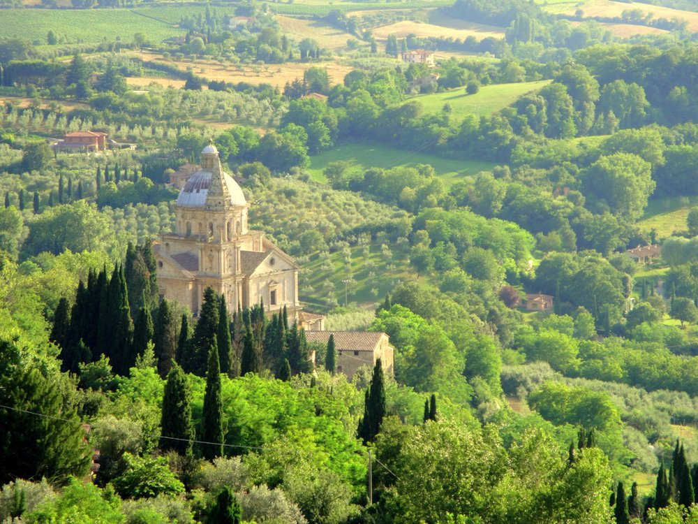 The Church of the Traveler in Montepulciano