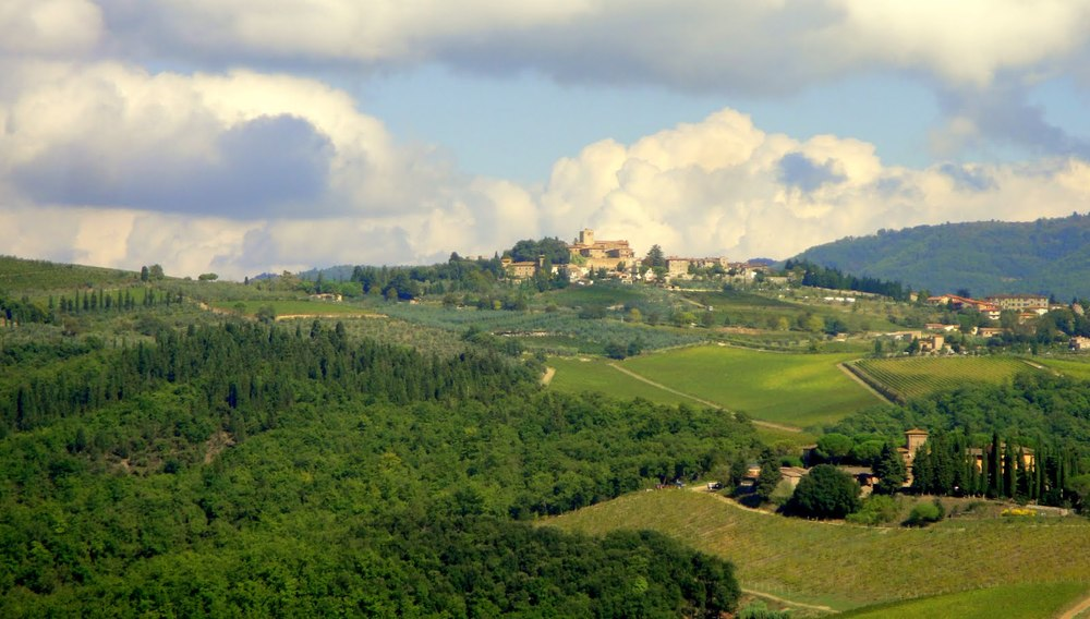 Magnificent views from the Castello