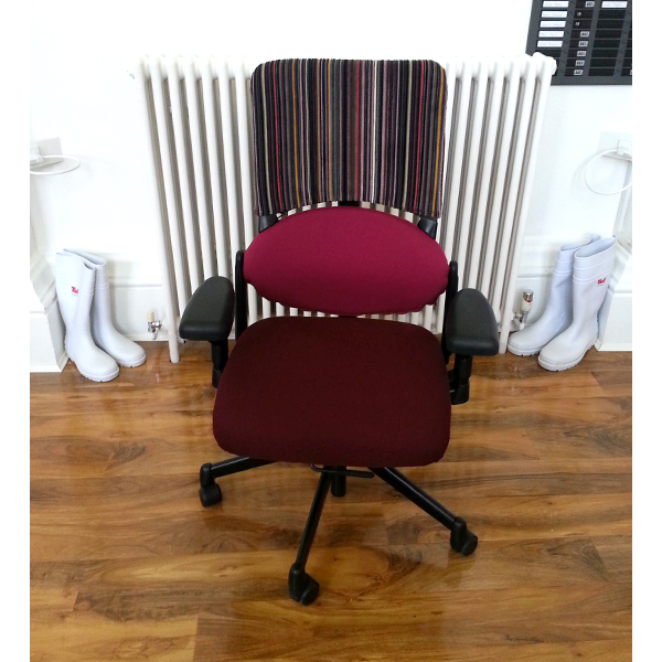 Individually Reupholstered Chairs - Epingle Stripe 003 Violet